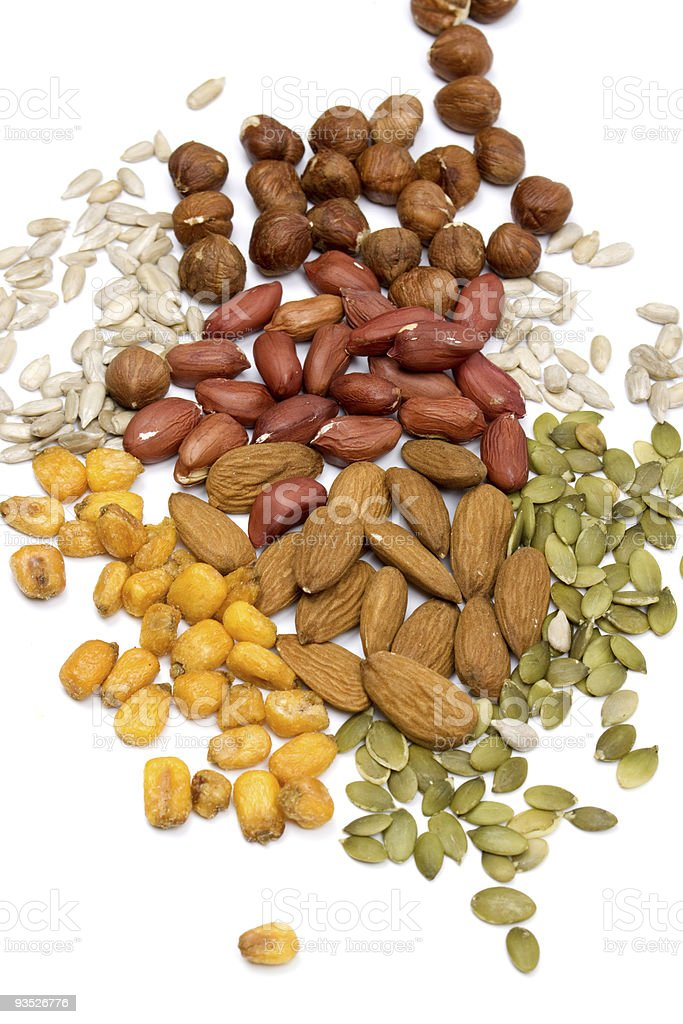 Nuts and seeds, healthy snack royalty-free stock photo