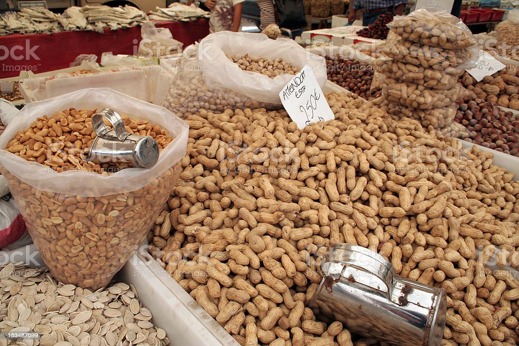 Nuts and Seeds in the Marketplace royalty-free stock photo