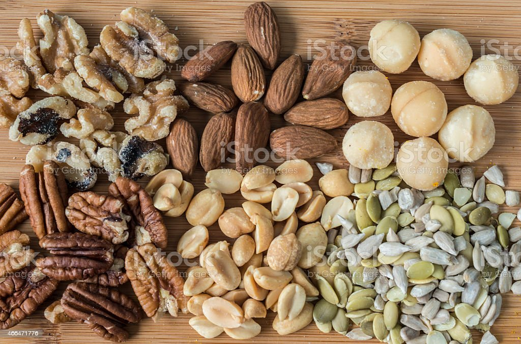 nuts and seets stock photo