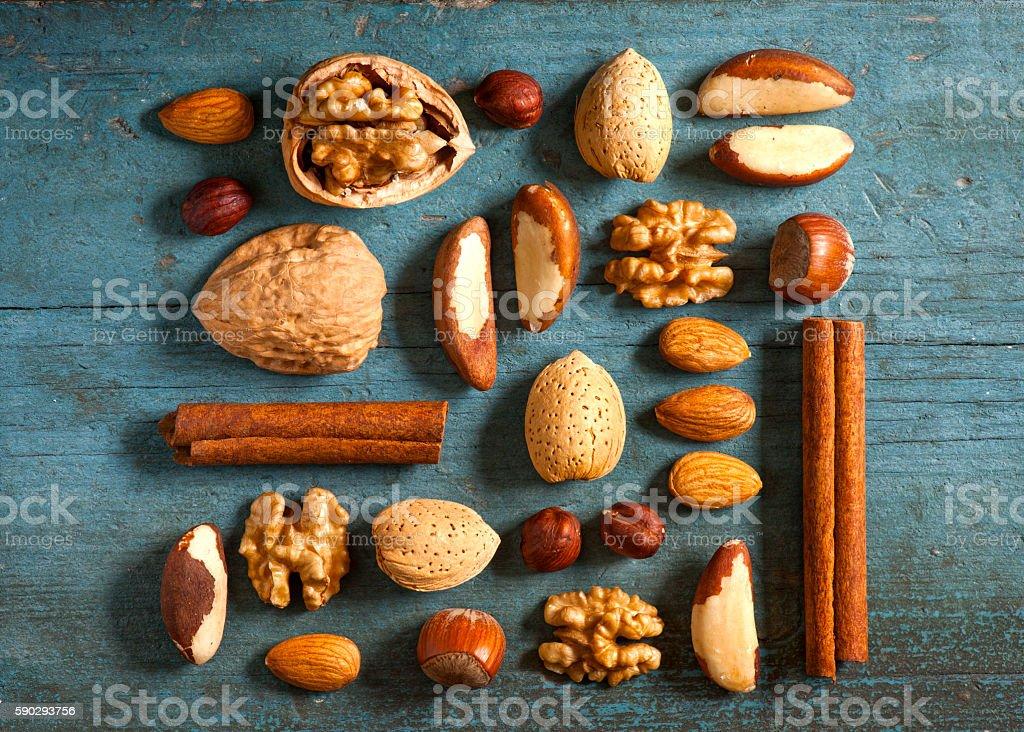 Ассортимент орехи Стоковые фото Стоковая фотография