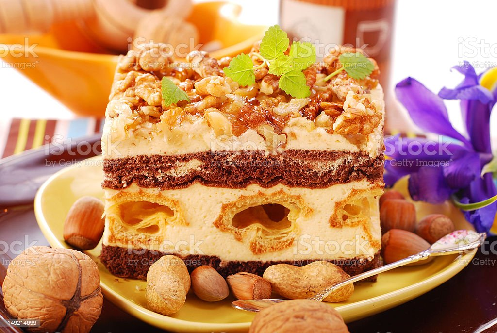 nuts cake royalty-free stock photo