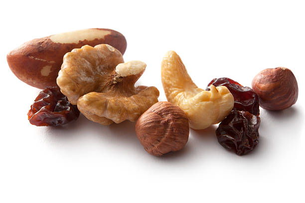 nuts: collection - dried fruit stock photos and pictures