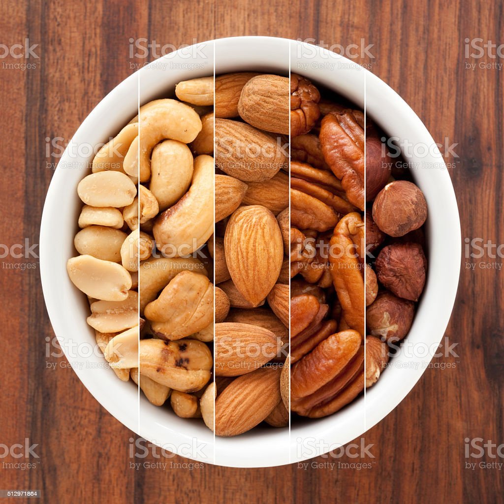Nuts composition stock photo