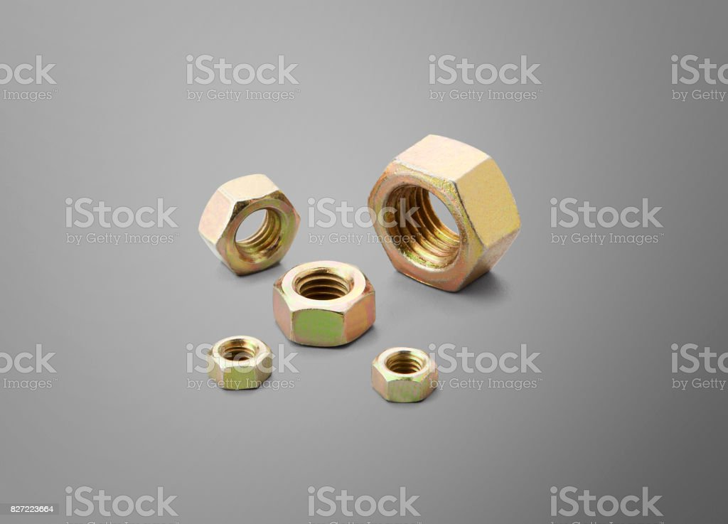 nuts - fasteners stock photo