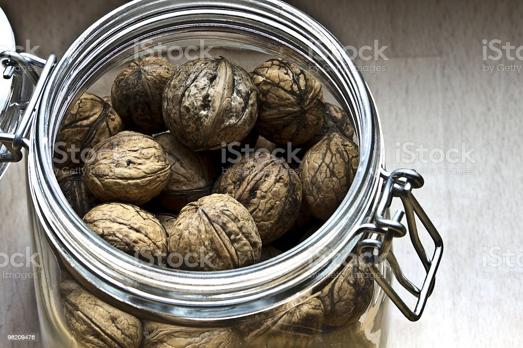 nuts in a jar royalty-free stock photo