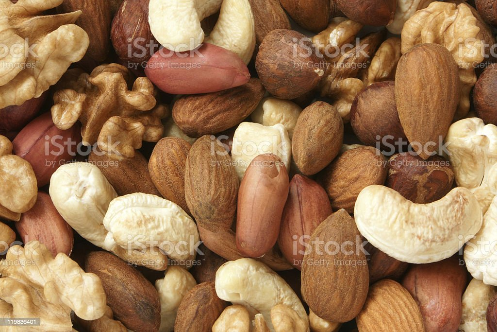 Nuts mixed stock photo