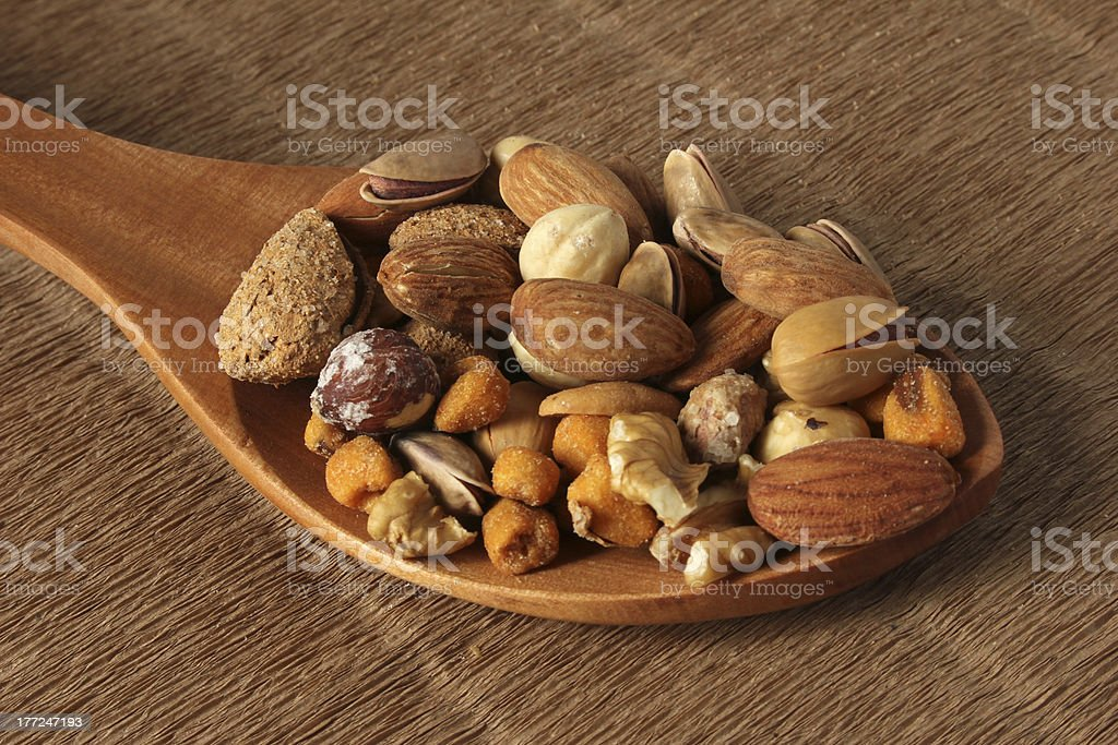 Nuts Mixed royalty-free stock photo