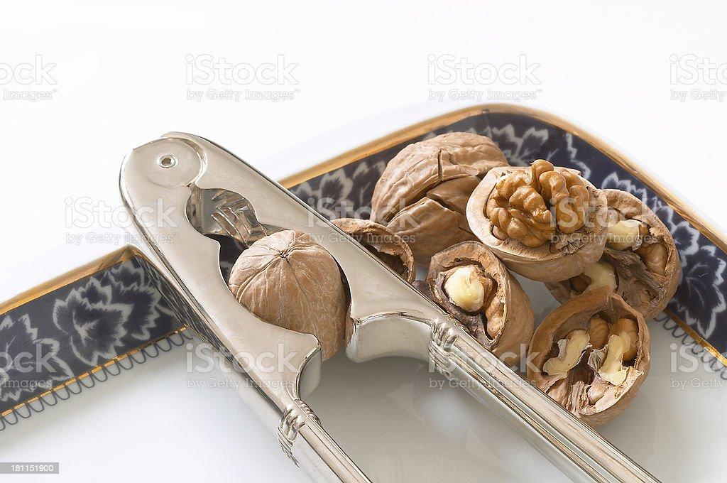 Nuts & Nut Cracker royalty-free stock photo