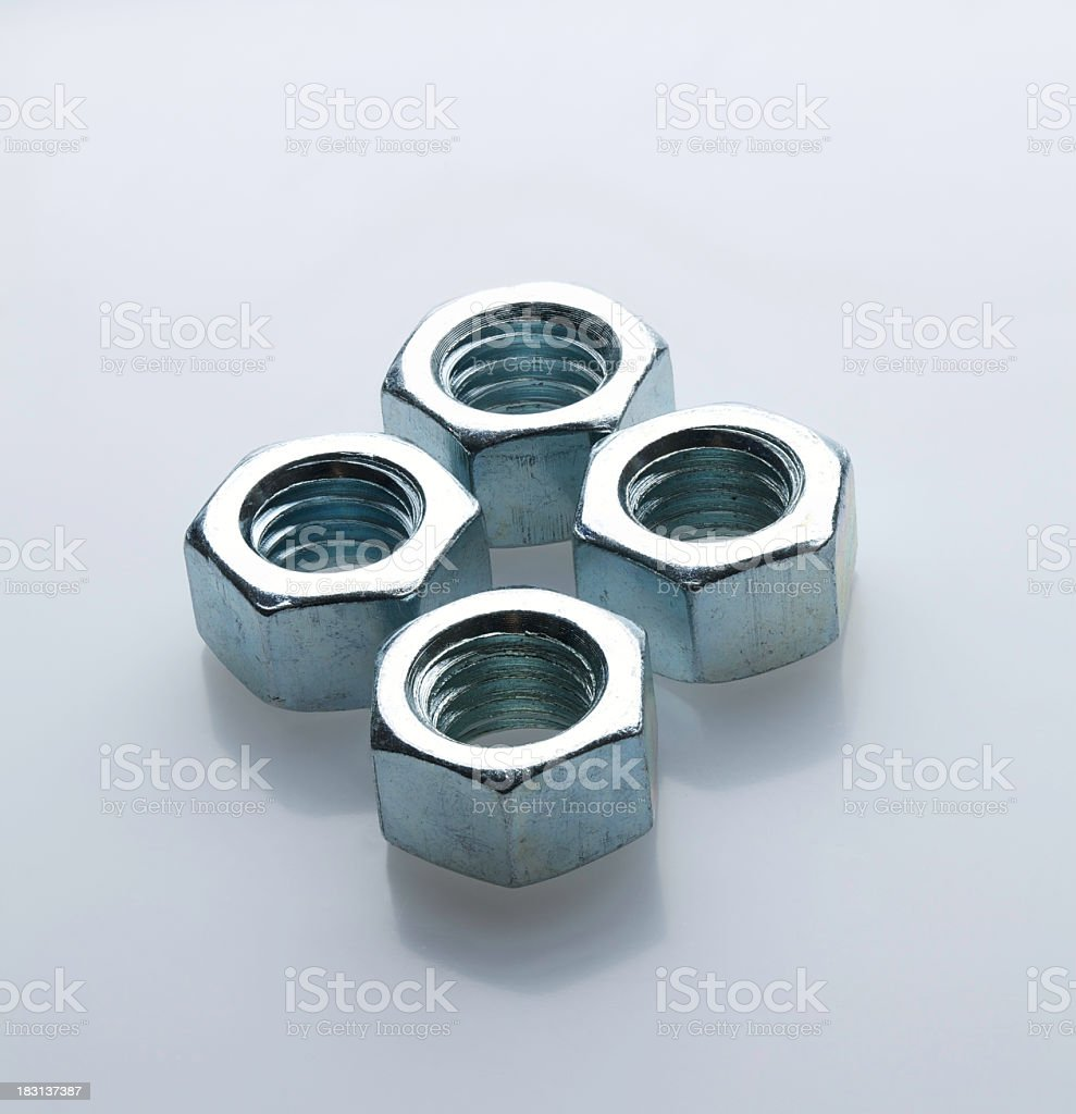 Nuts on white stock photo