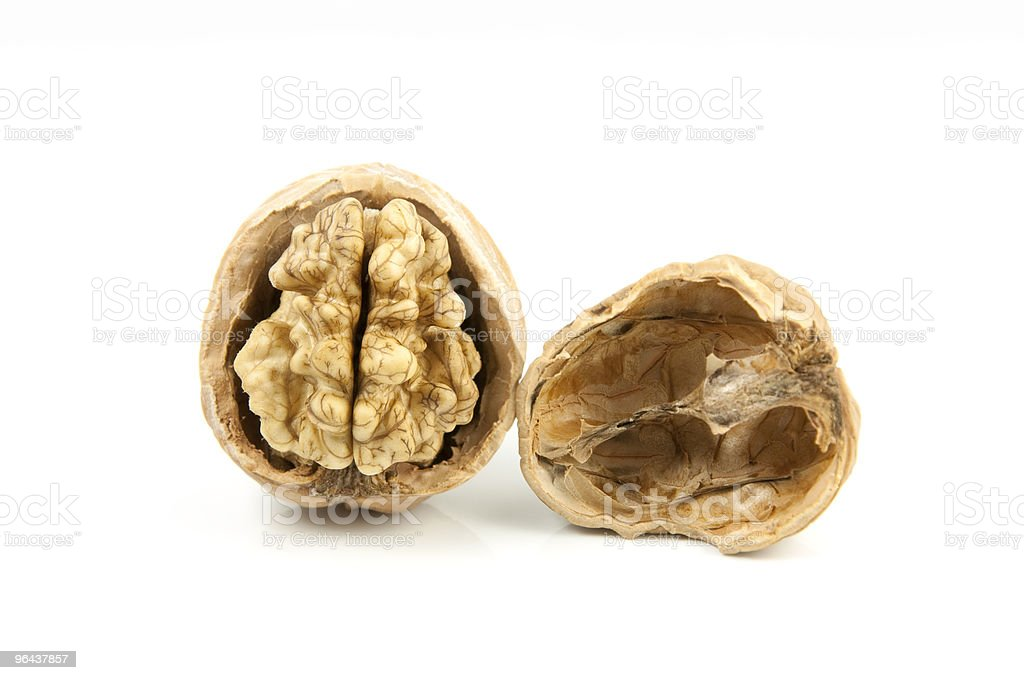 nuts open - Royalty-free Biologisch Stockfoto