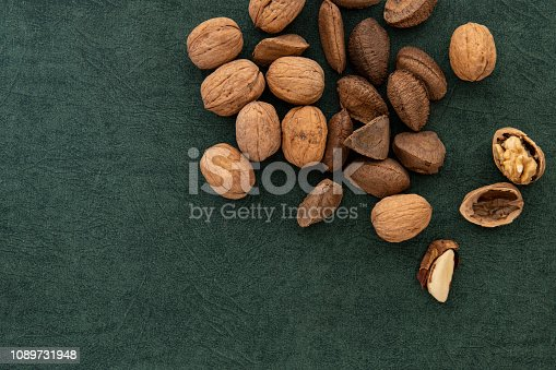 Directly above image of mixed nuts