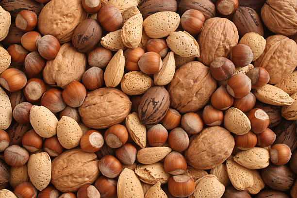 орехи - nuts стоковые фото и изображения