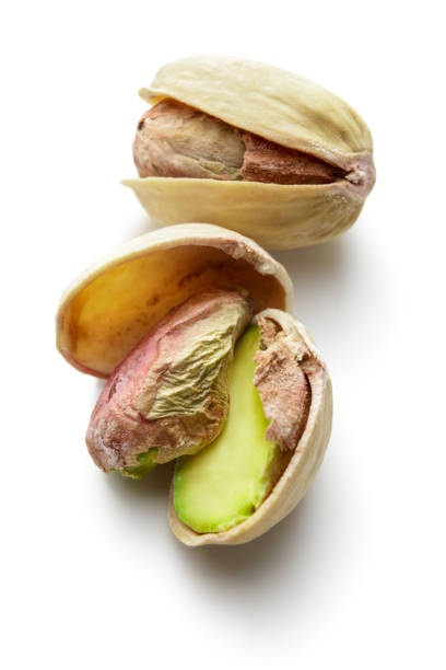 Nuts: Pistachios Isolated on White Background stock photo