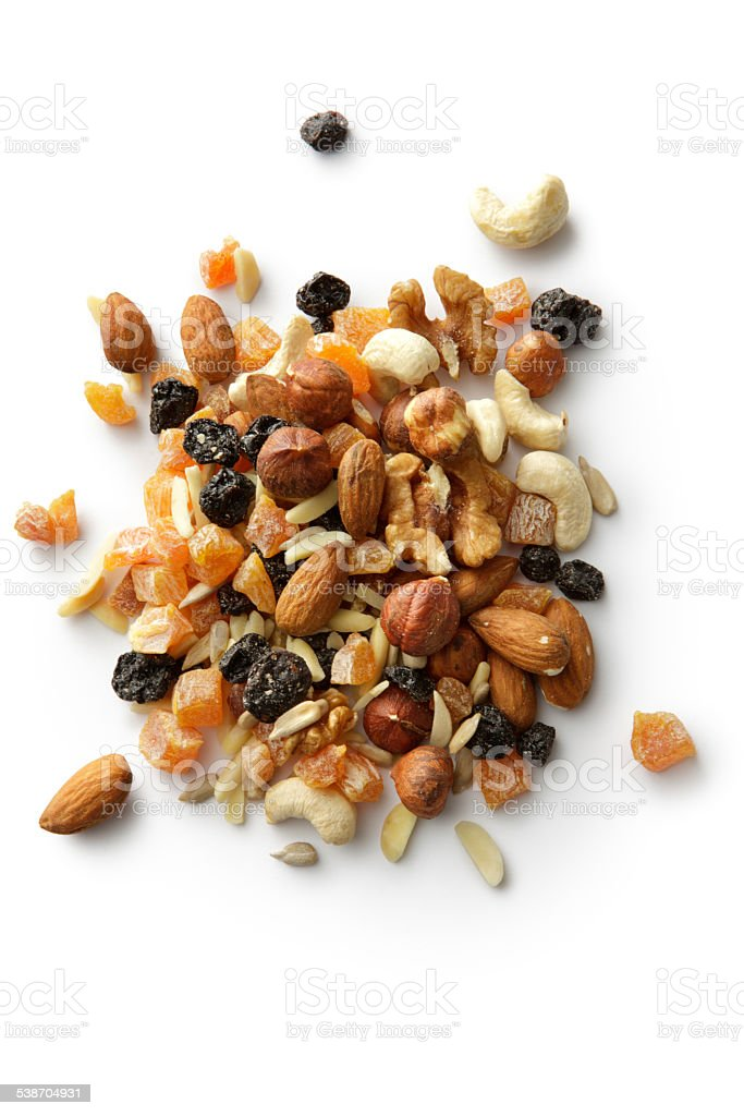 Nuts: Trail Mix stock photo
