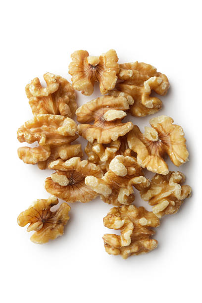 Nuts: Walnut More Photos like this here... walnut stock pictures, royalty-free photos & images