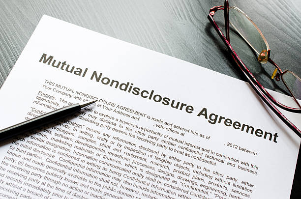 nutual nondisclosure agreement stock photo