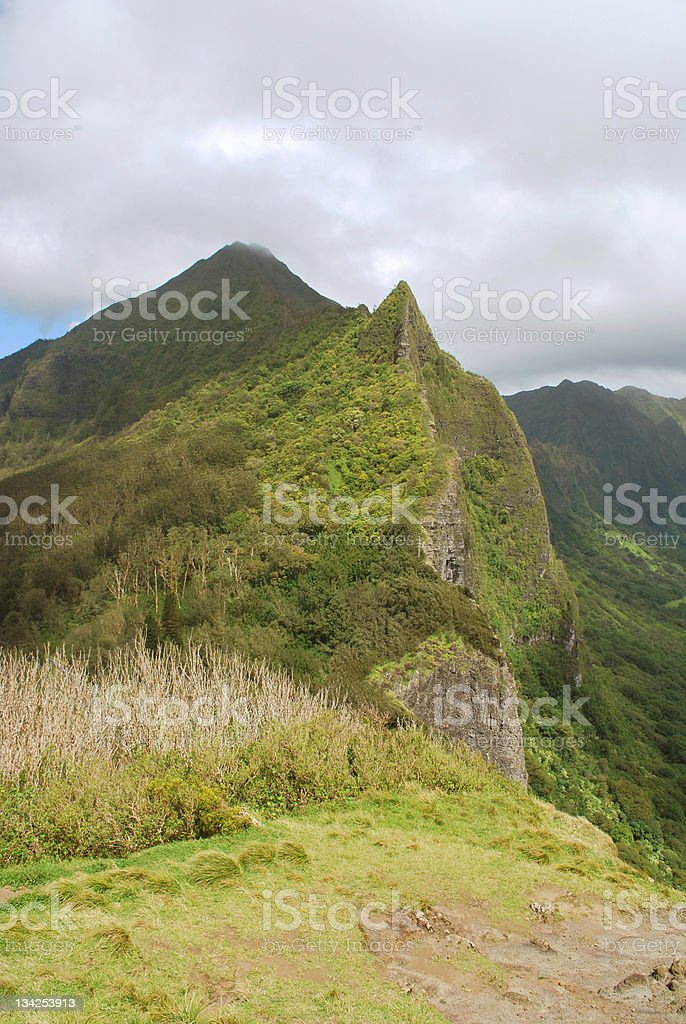Nuuanu Pali Lookout royalty-free stock photo