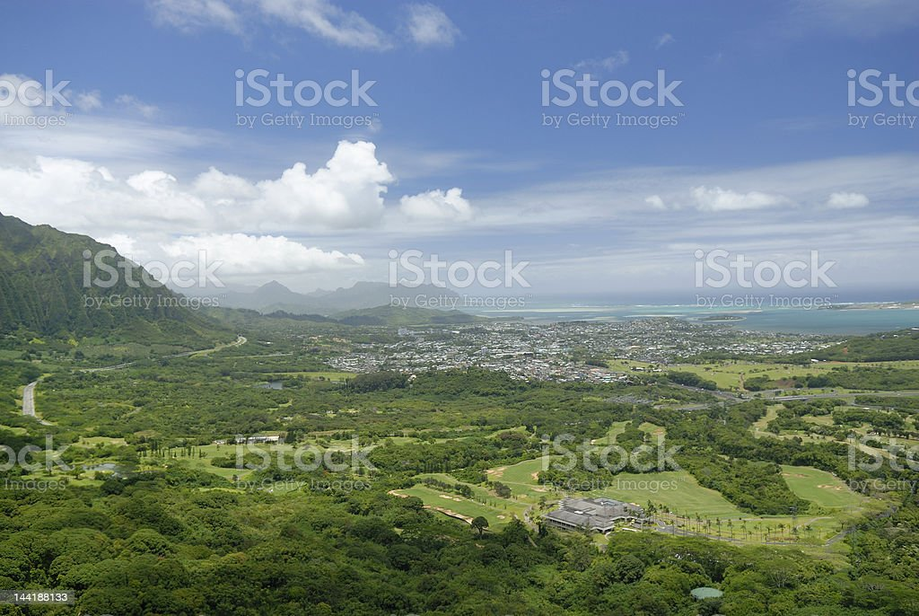 Nuuanu Pali scenic stock photo