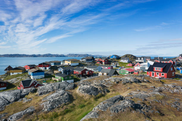 Nuuk City View in Summer Godthab Greenland