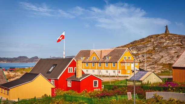Nuuk Godthab City Panorama Greenland