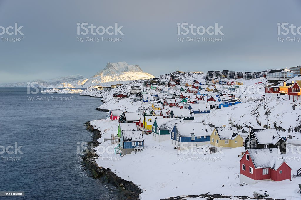 Nuuk Old Town stock photo