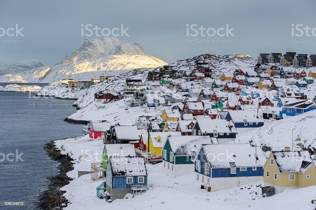 Nuuk Old Town foto de stock libre de derechos