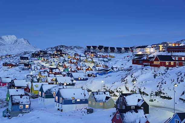 Nuuk Altstadt der Dämmerung – Foto
