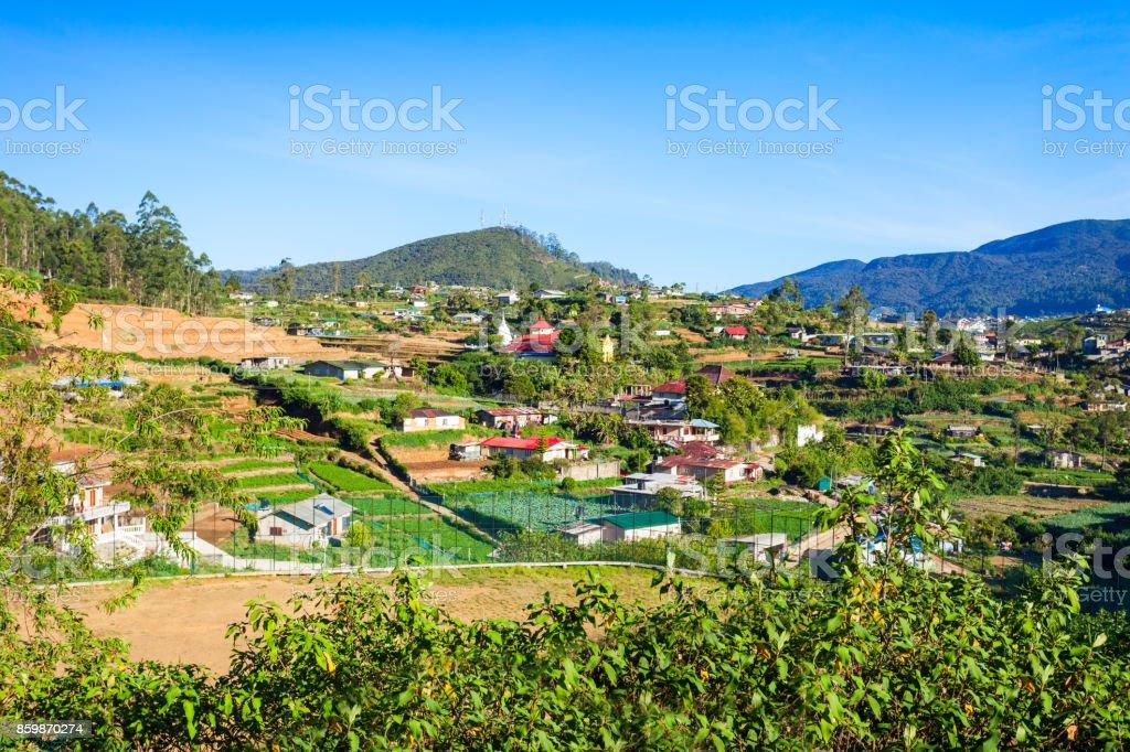 Nuwara Eliya city view stock photo