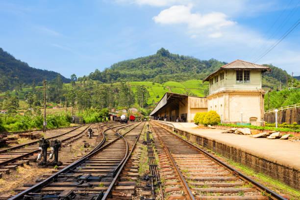 Nuwara Eliya railway station stock photo