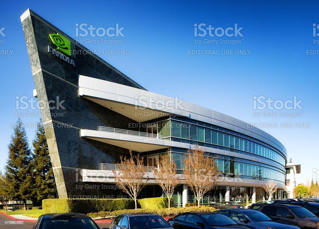 Nvidia Headquarters building in Sunnyvale California stock photo