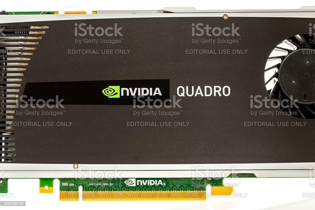 Nvidia quadro card stock photo