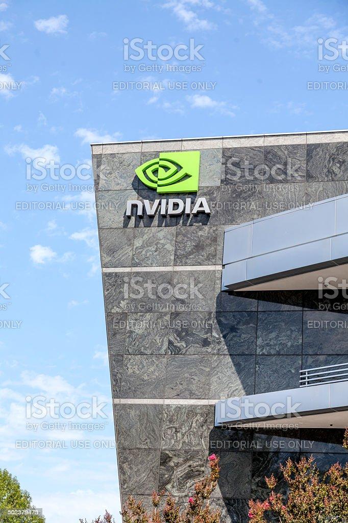 Nvidia World Headquarters stock photo