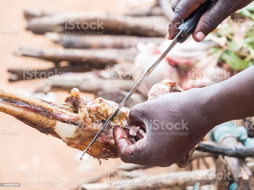 Nyama choma stock photo