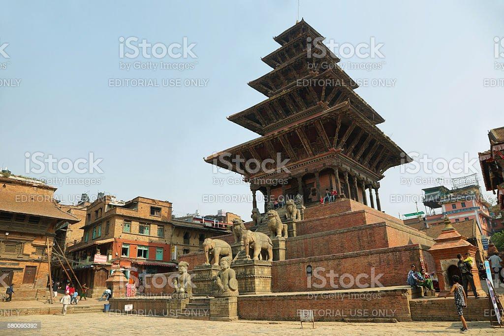 Nyatapola Pagoda in taumadhi Square, Bhaktapur, Nepal stock photo