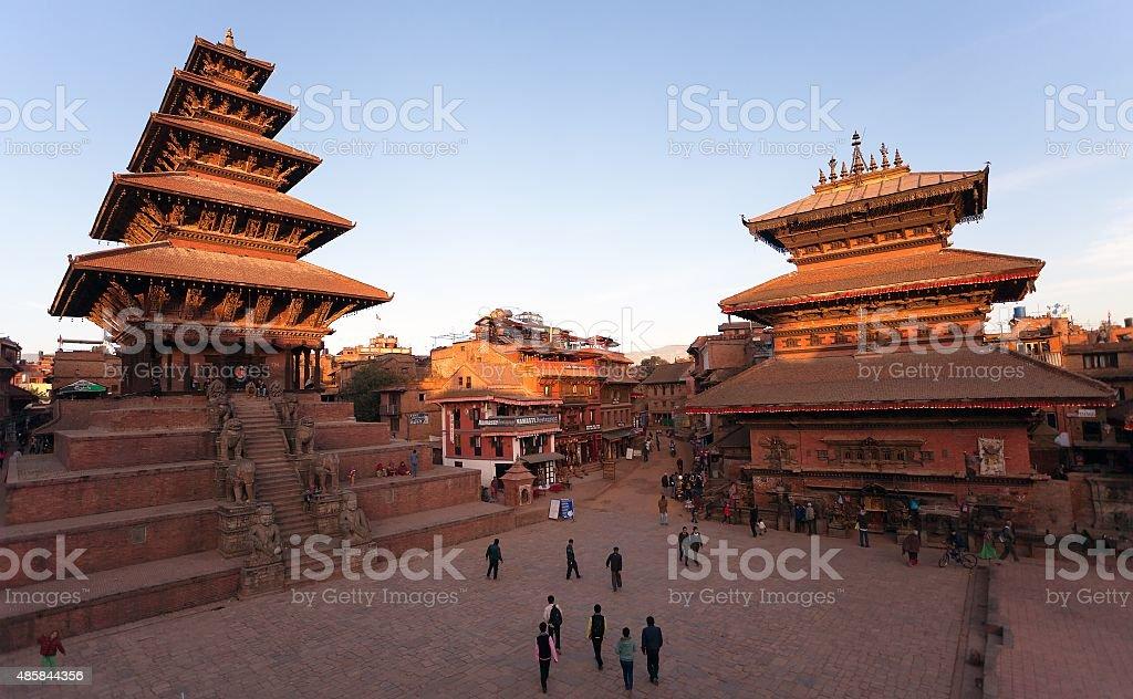 Nyatapola Pagoda on Taumadhi Square in Bhaktapur stock photo