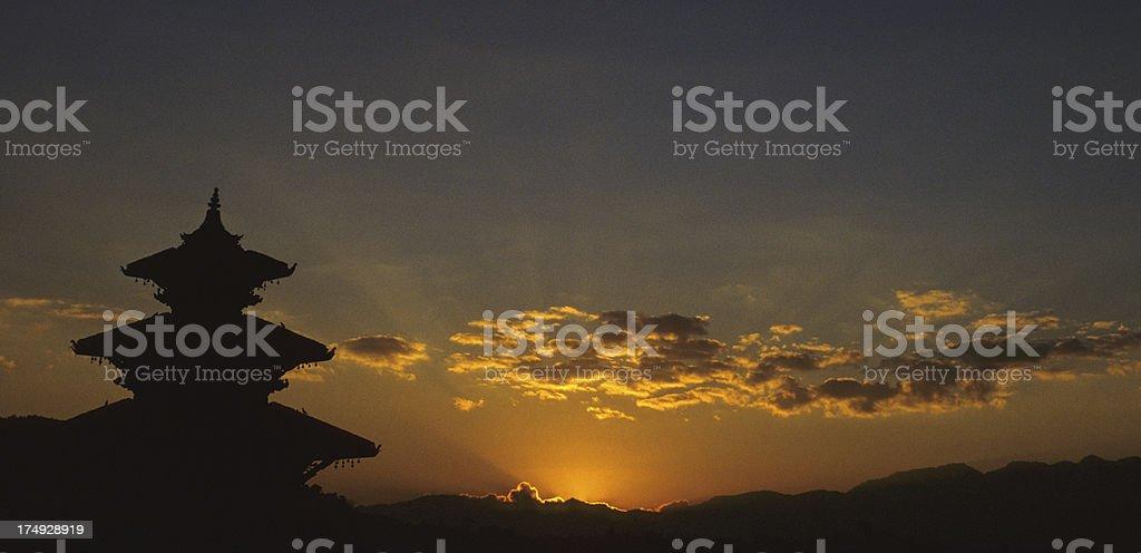 Nyatapola temple in Bhaktapur royalty-free stock photo