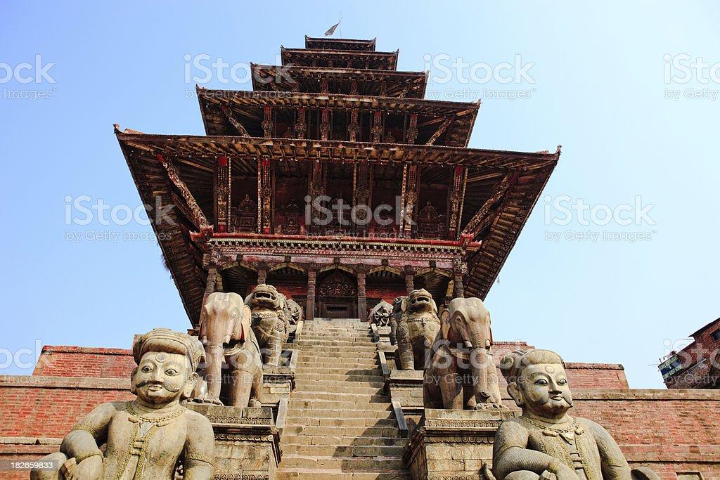 Nyatapola Temple,kathmandu stock photo