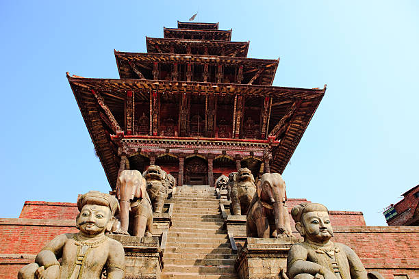 Nyatapola Temple,kathmandu stock photo