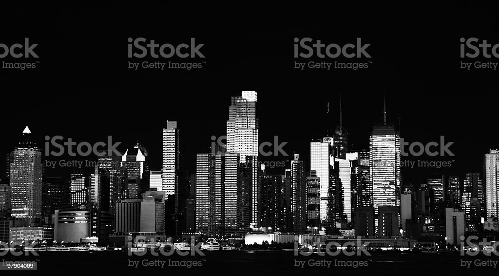 nyc cityscape over the hudson royalty-free stock photo