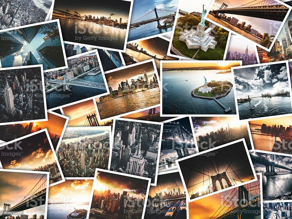 New York Travel Images Sur Polaroid Papier Photo Libre De Droits