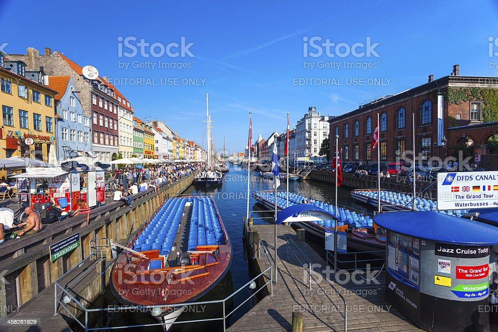 Nyhaven Waterside Copenhagen, Denmark stock photo