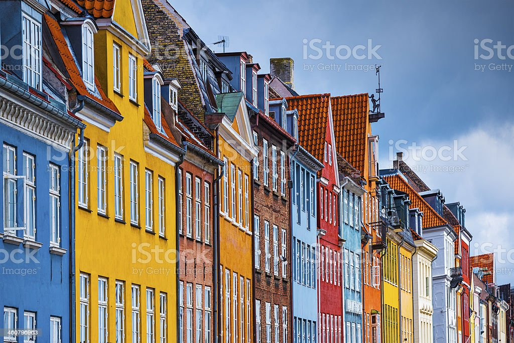 Nyhavn Buildings stock photo