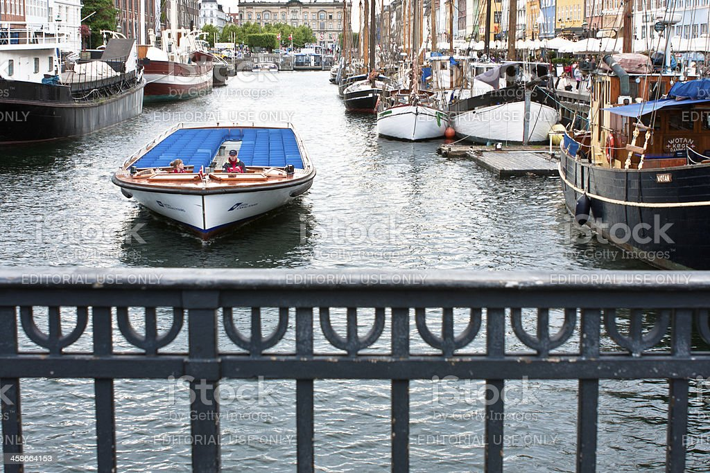 Nyhavn Canal Boat stock photo