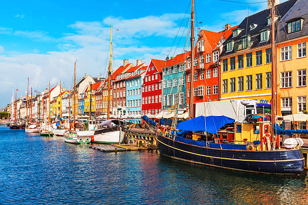 nyhavn, copenhagen, denmark - denmark stock photos and pictures