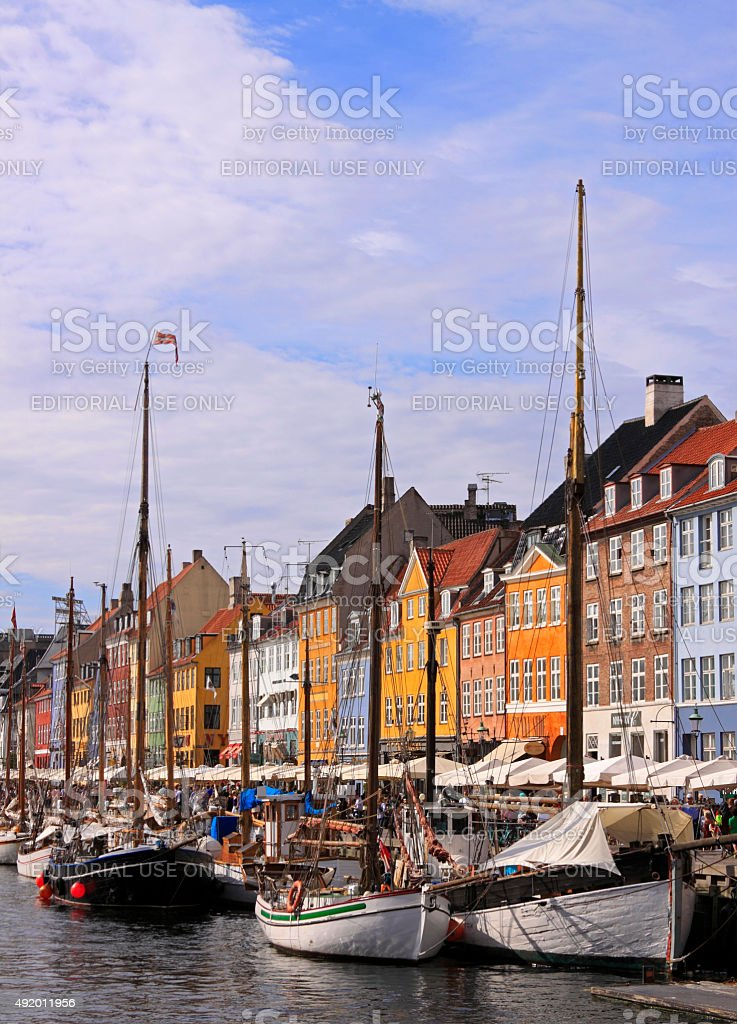 Nyhavn district stock photo