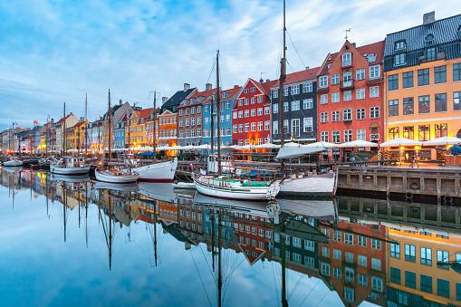 Nyhavn in Copenhagen, Denmark.