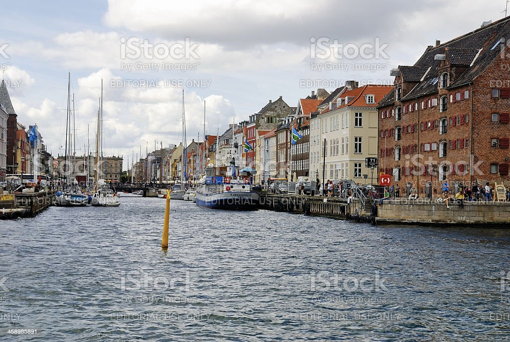 Nyhavn in Copenhagen, Denmark royalty-free stock photo