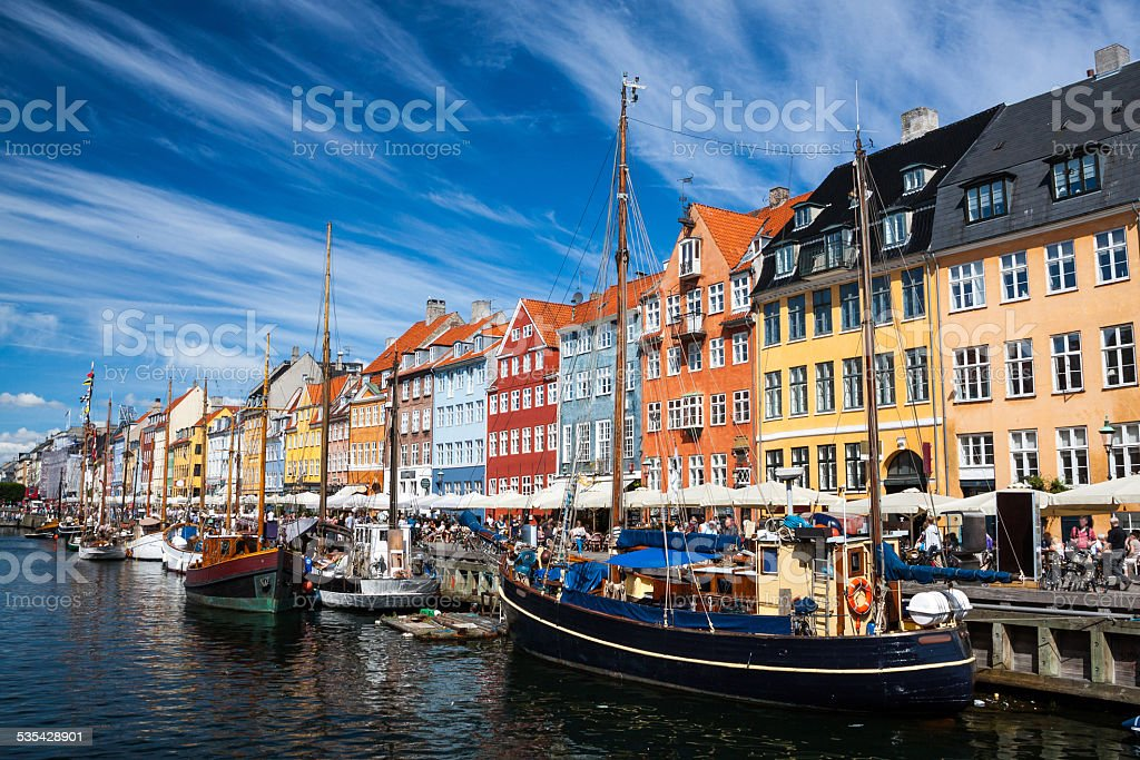 Nyhavn in Copenhagen, Denmark stock photo