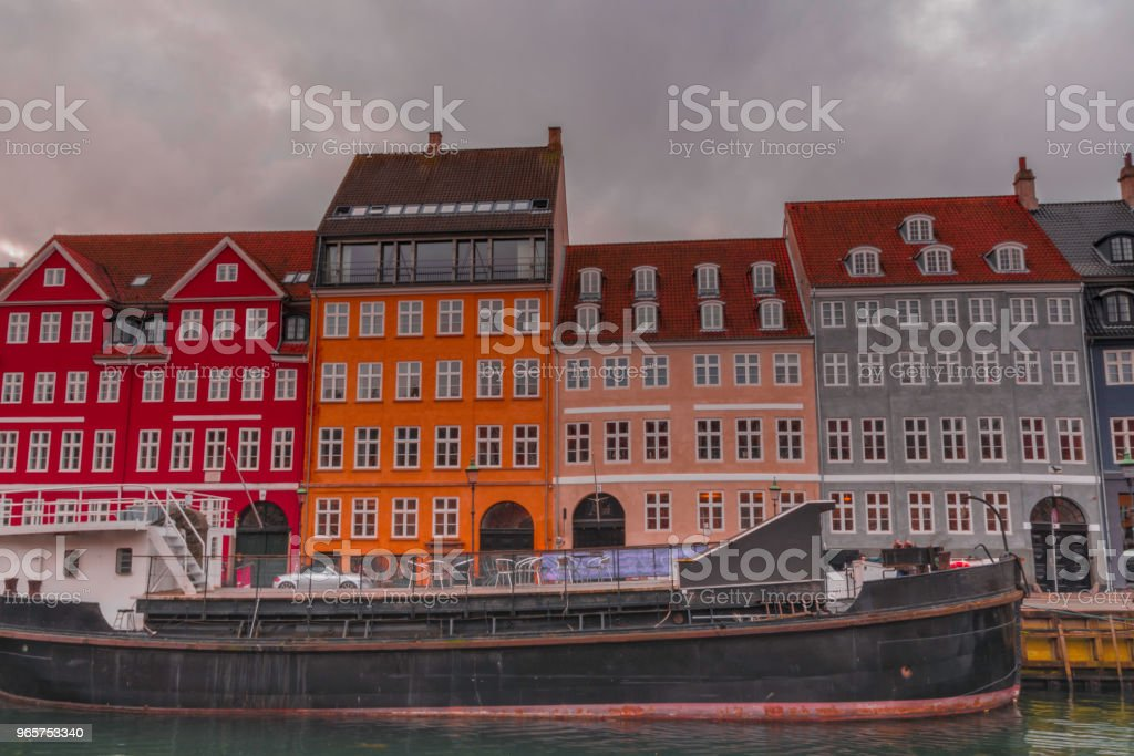 Nyhavn in Kopenhagen - Royalty-free Architectuur Stockfoto
