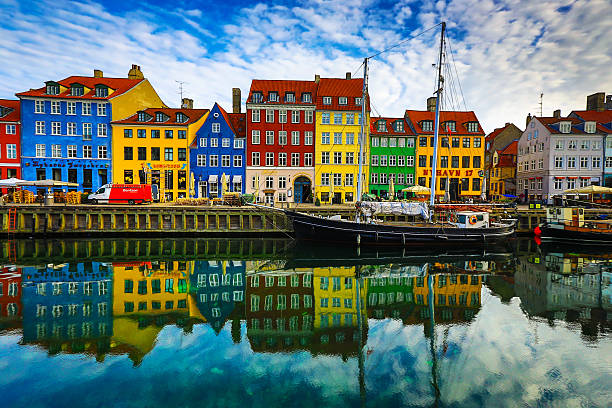 nyhavn - denmark stock photos and pictures